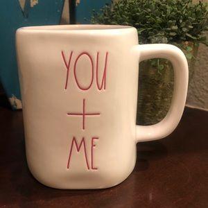 💥2/$30💥 Rae Dunn white YOU + ME ceramic Mug